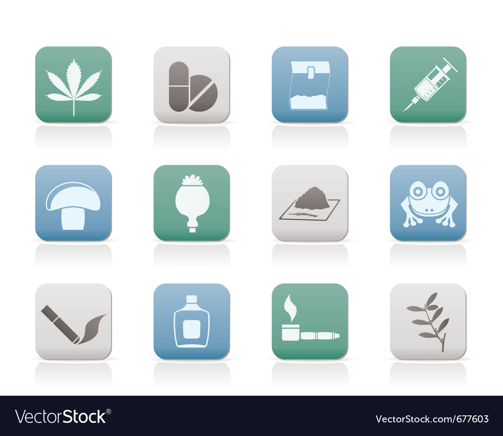 Drug icons vector | Price: 1 Credit (USD $1)