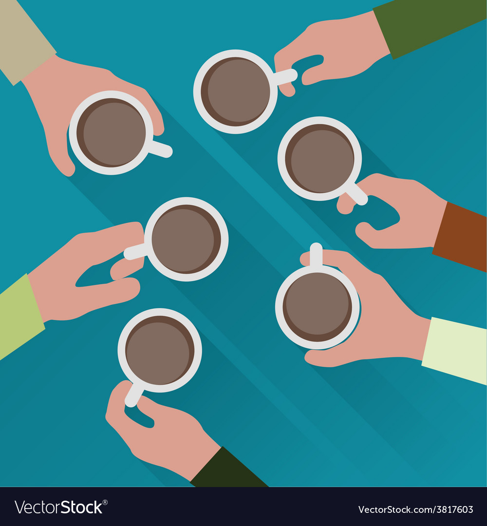 Hands with cup of coffee vector   Price: 1 Credit (USD $1)
