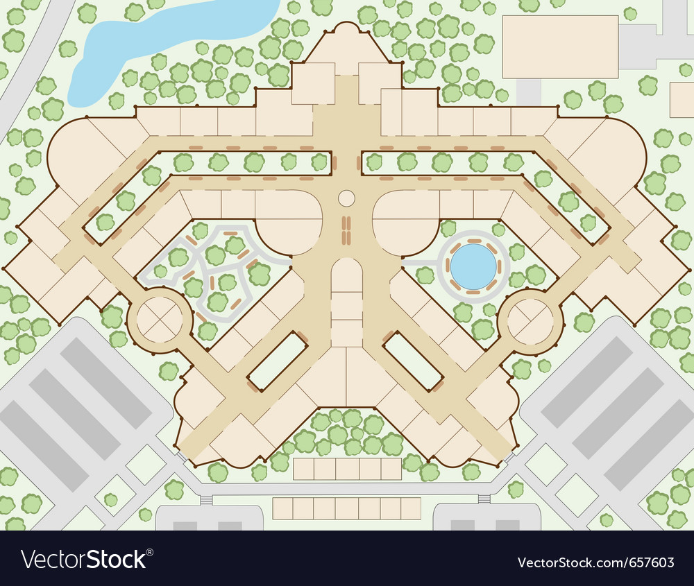 Mall map vector | Price: 1 Credit (USD $1)