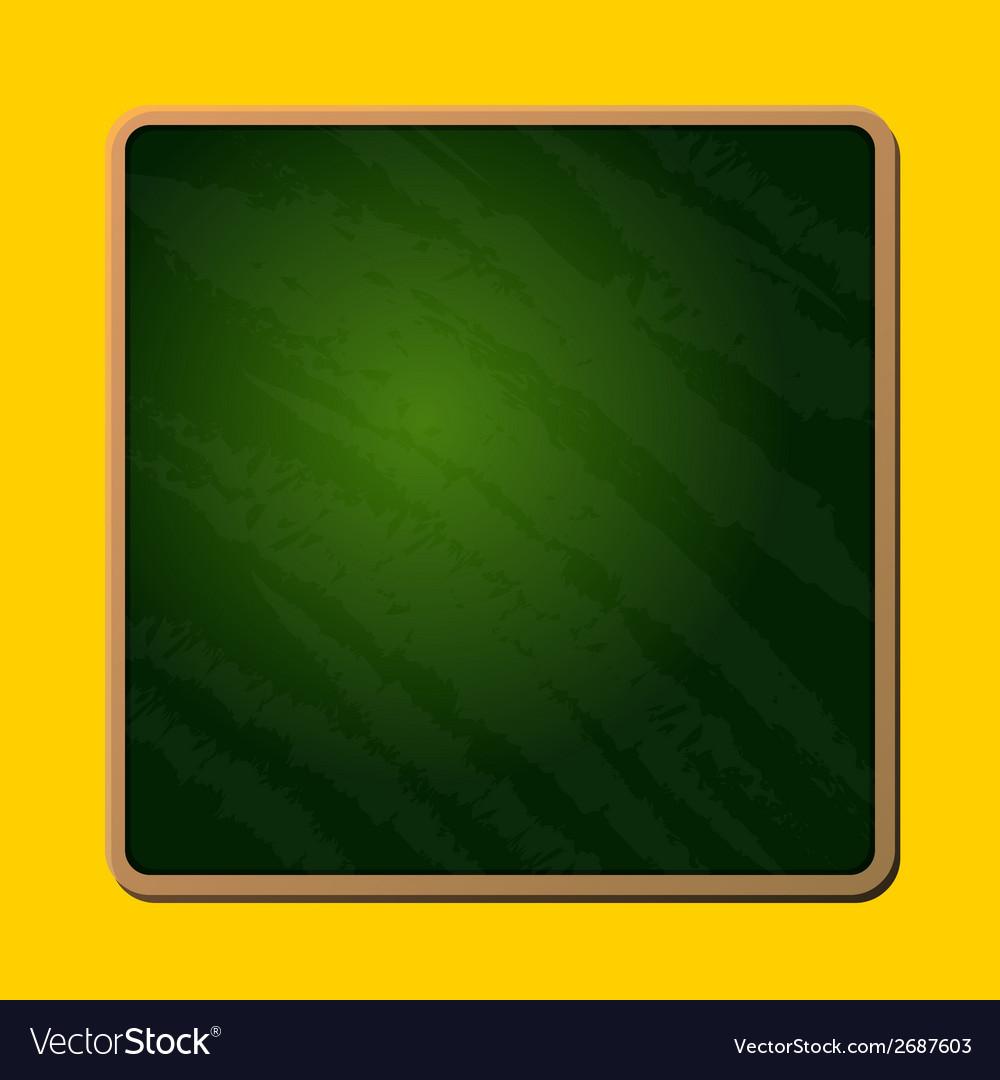 Old blank green school chalkboard vector | Price: 1 Credit (USD $1)