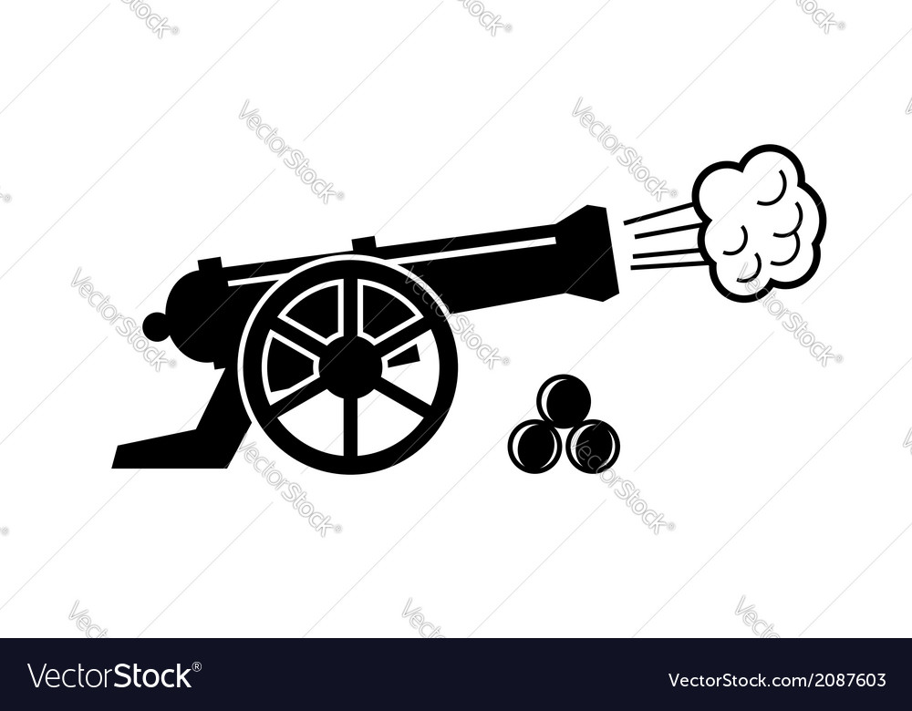 Old cannon vector | Price: 1 Credit (USD $1)