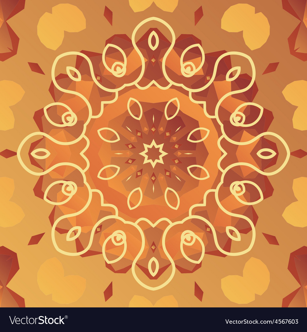 Orient patter with stylized flower vector | Price: 1 Credit (USD $1)