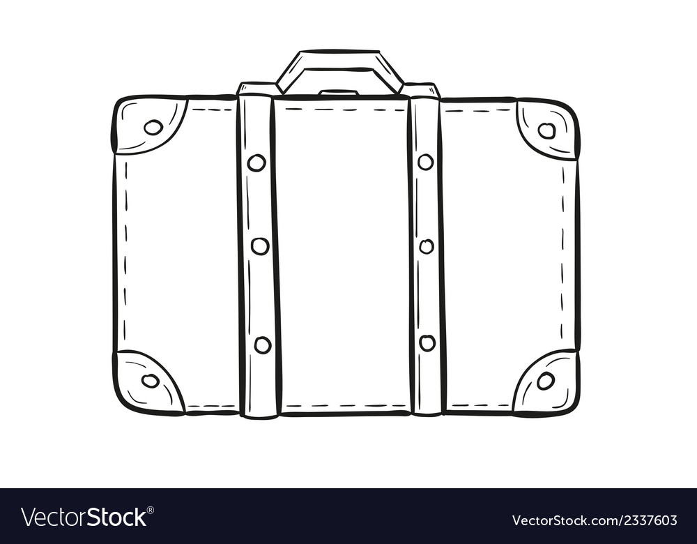 Sketch of the suitcase vector | Price: 1 Credit (USD $1)