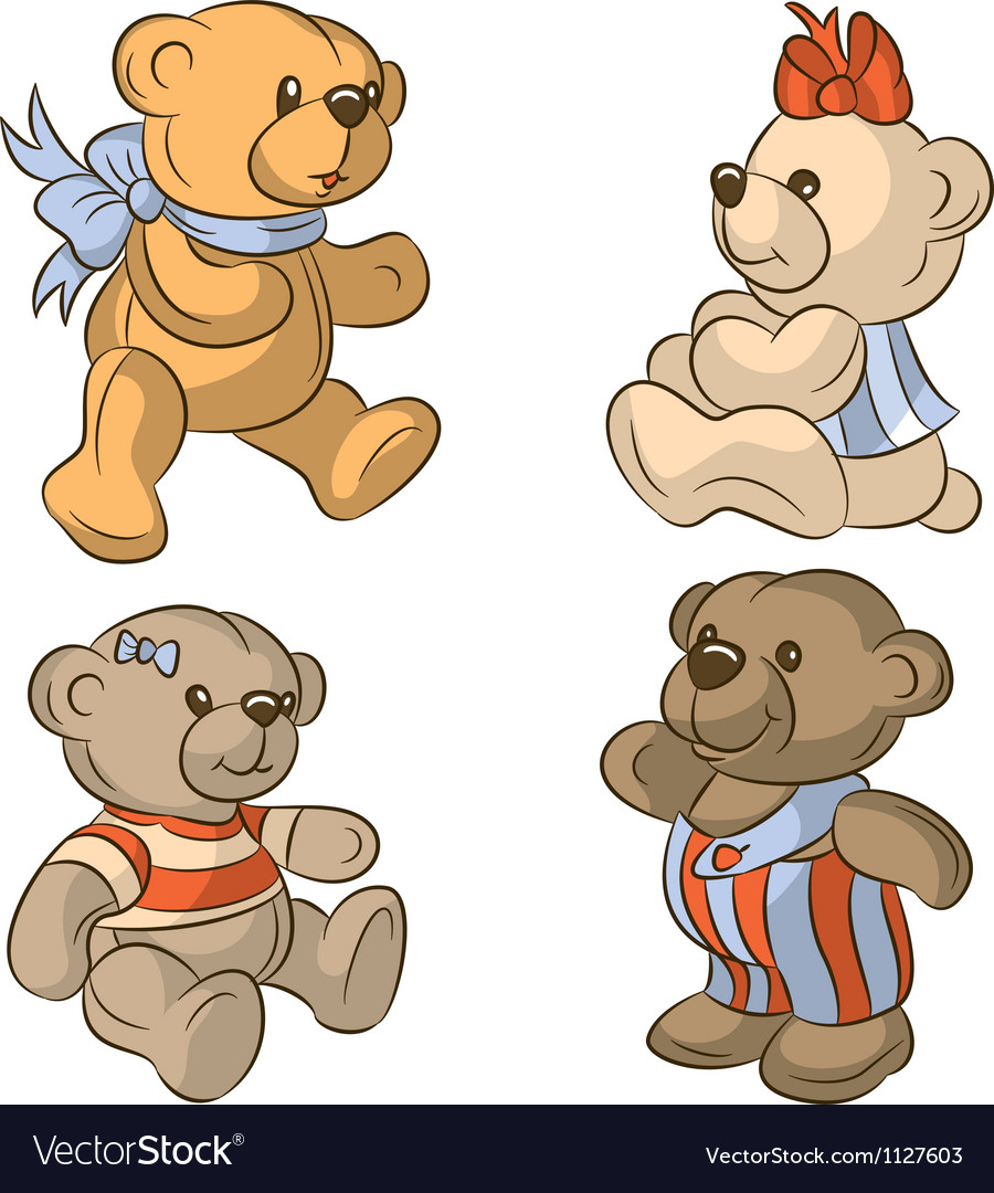 Teddy bears vector | Price: 3 Credit (USD $3)