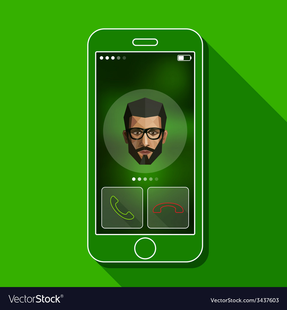 With a mobile phone conversation gadget and male vector | Price: 1 Credit (USD $1)