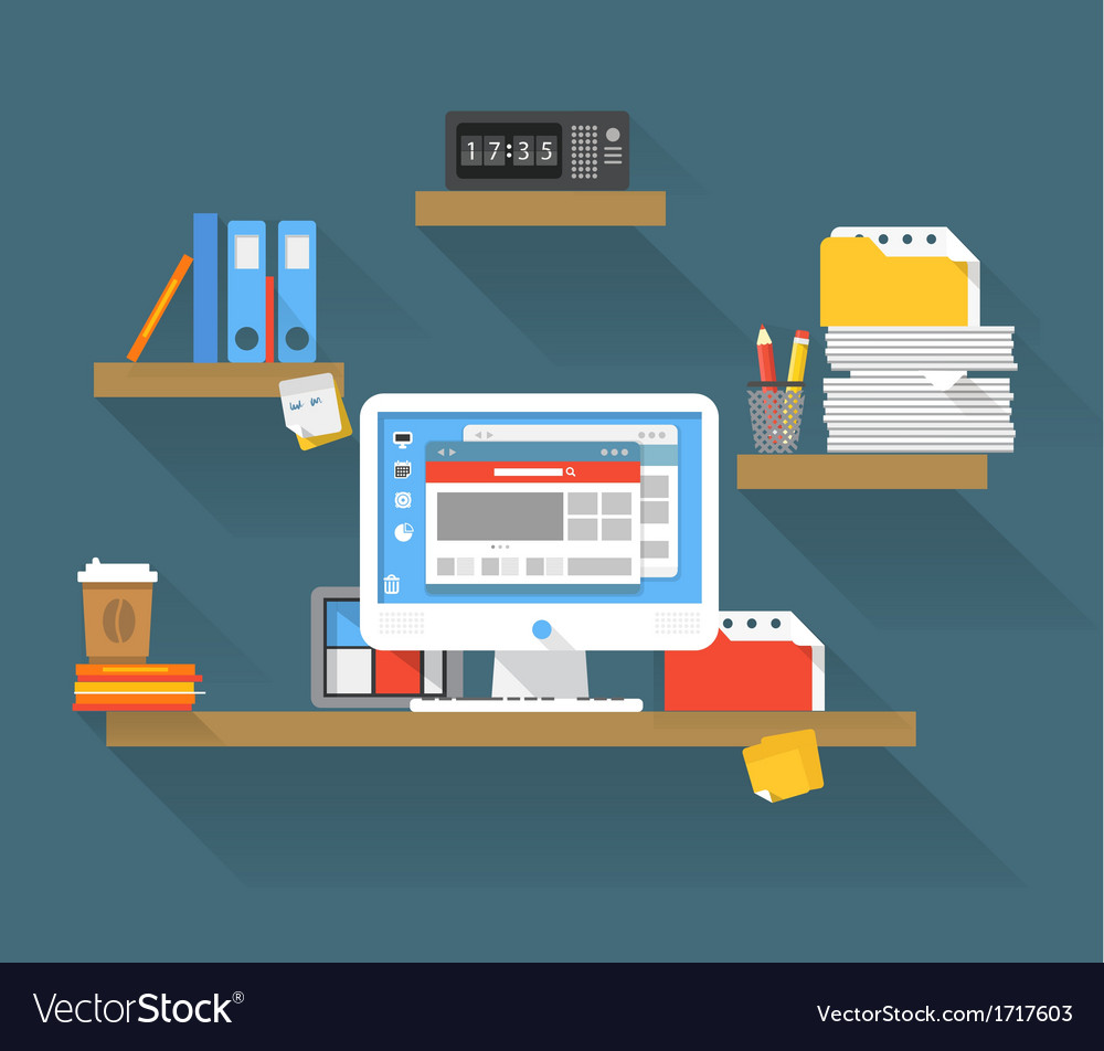 Working place vector | Price: 1 Credit (USD $1)
