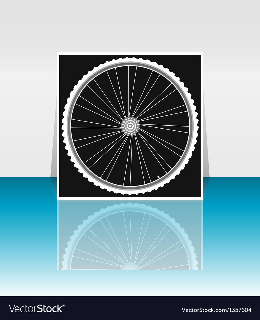 Bike wheel - flyer or cover design vector | Price: 1 Credit (USD $1)