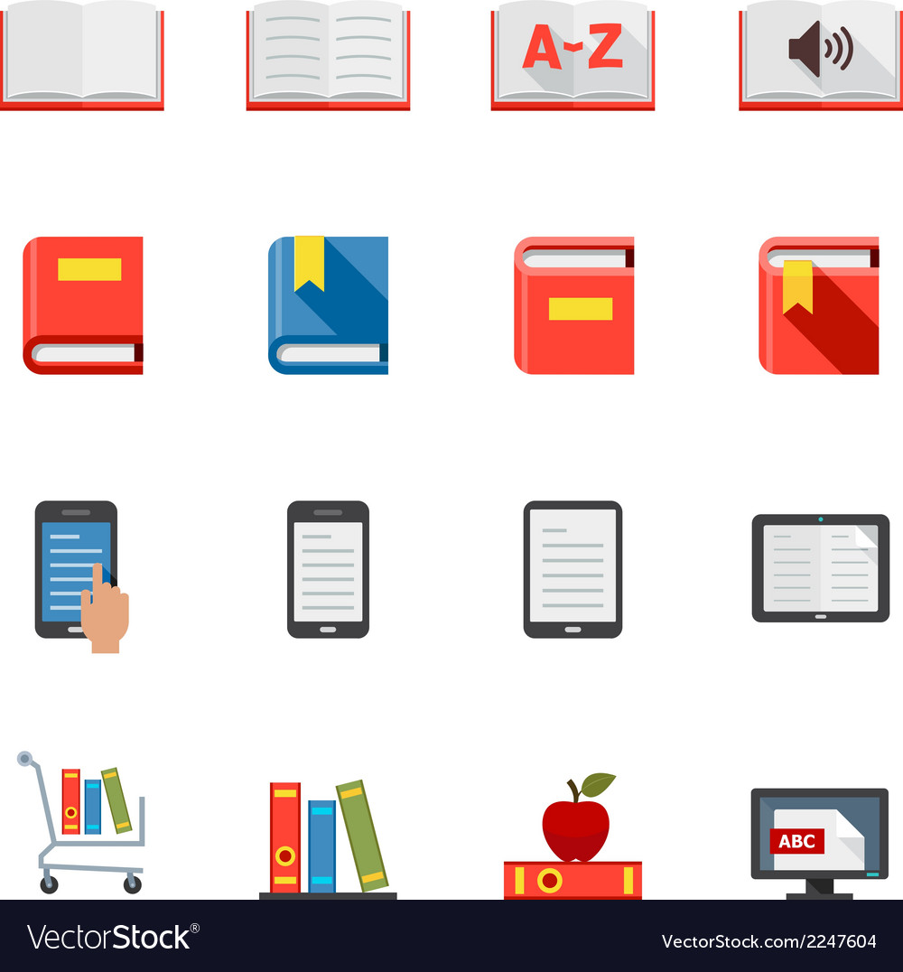 Book icons vector | Price: 1 Credit (USD $1)