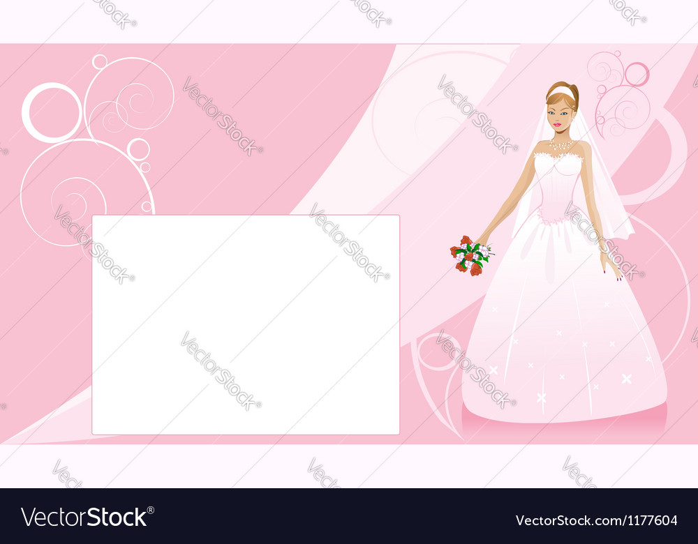 Bride and wedding background vector | Price: 1 Credit (USD $1)