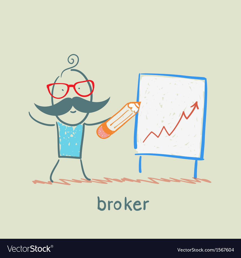 Broker draws a graph vector | Price: 1 Credit (USD $1)