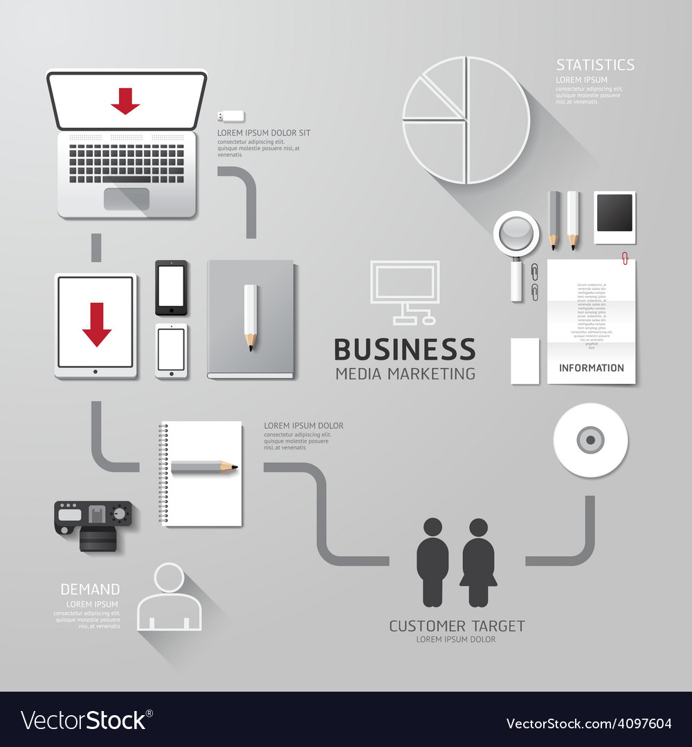 Business infographic corporate identity set design vector | Price: 3 Credit (USD $3)