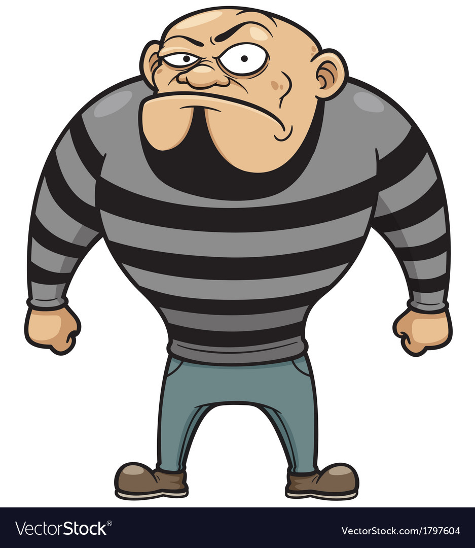 Cartoon prisoner vector | Price: 1 Credit (USD $1)