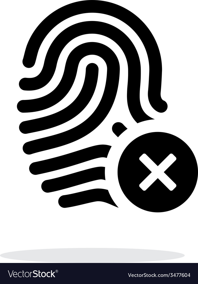 Fingerprint rejected icon on white background vector | Price: 1 Credit (USD $1)