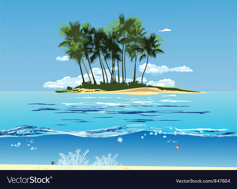 Island vector | Price: 1 Credit (USD $1)