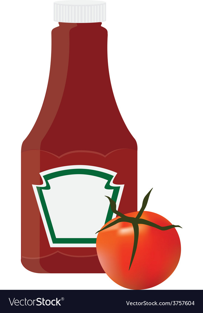 Ketchup bottle vector | Price: 1 Credit (USD $1)