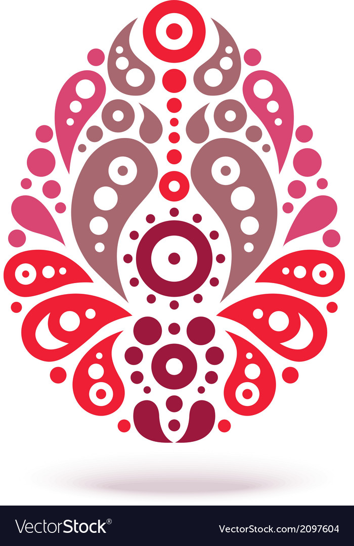 Ornamental floral decorative easter egg vector | Price: 1 Credit (USD $1)