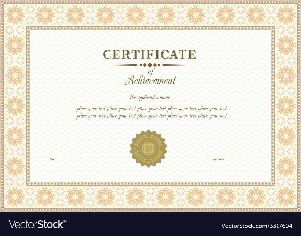 Red certificate vector | Price: 1 Credit (USD $1)