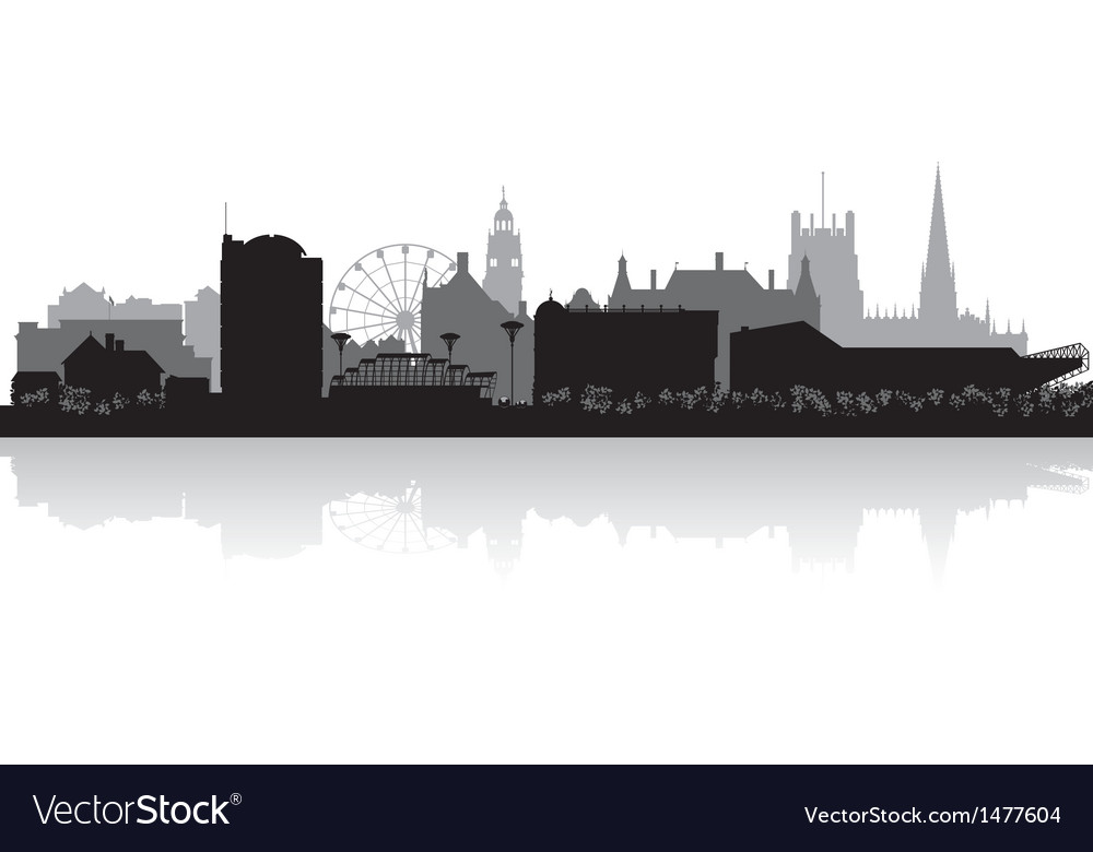 Sheffield city skyline silhouette vector | Price: 1 Credit (USD $1)