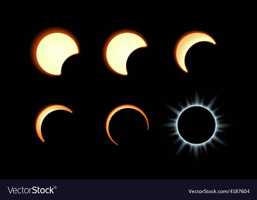 Solar eclipse vector | Price: 1 Credit (USD $1)