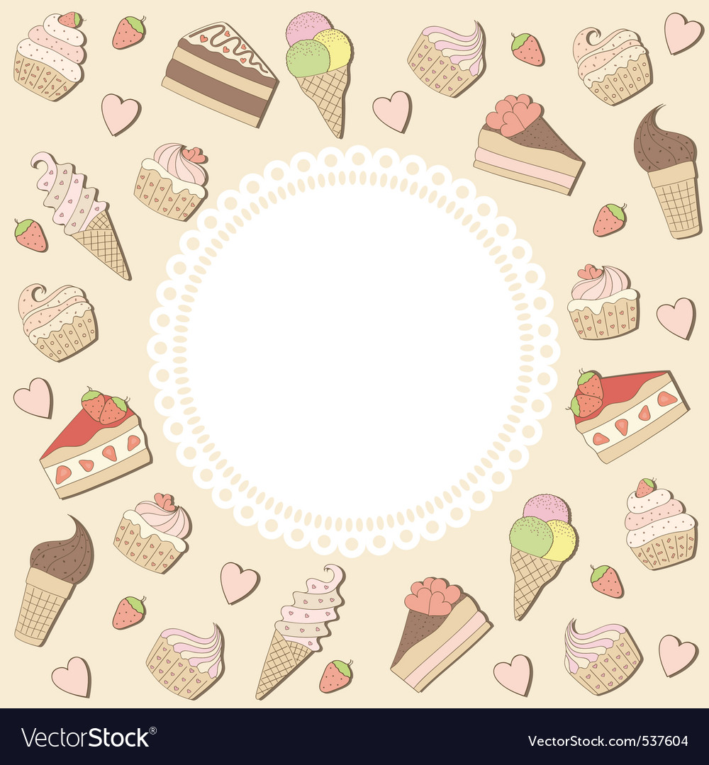Sweets frame vector | Price: 1 Credit (USD $1)