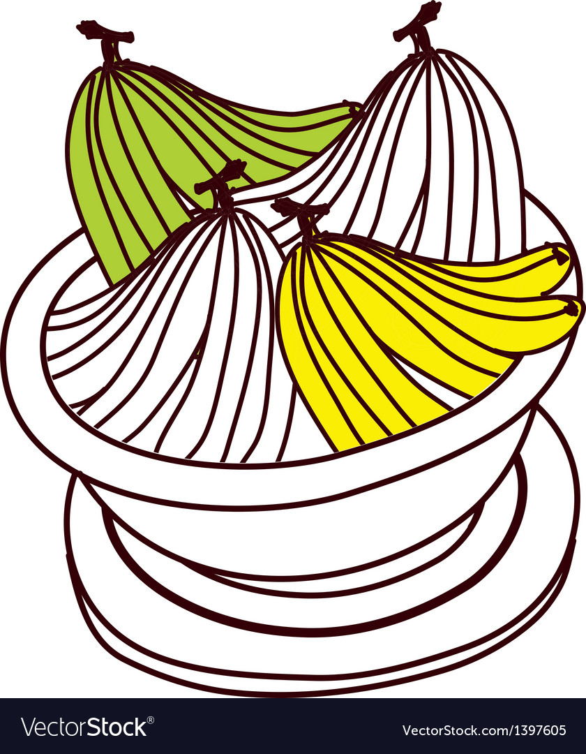 A bananas on a jar vector   Price: 1 Credit (USD $1)