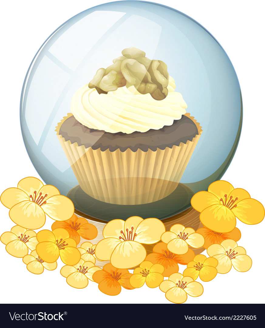 A crystal ball with a cake vector | Price: 1 Credit (USD $1)
