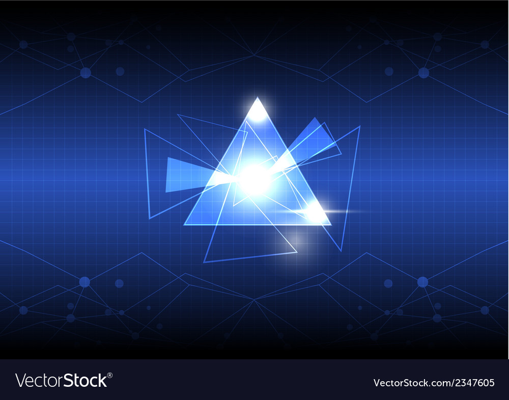 Abstract triangle design vector | Price: 1 Credit (USD $1)