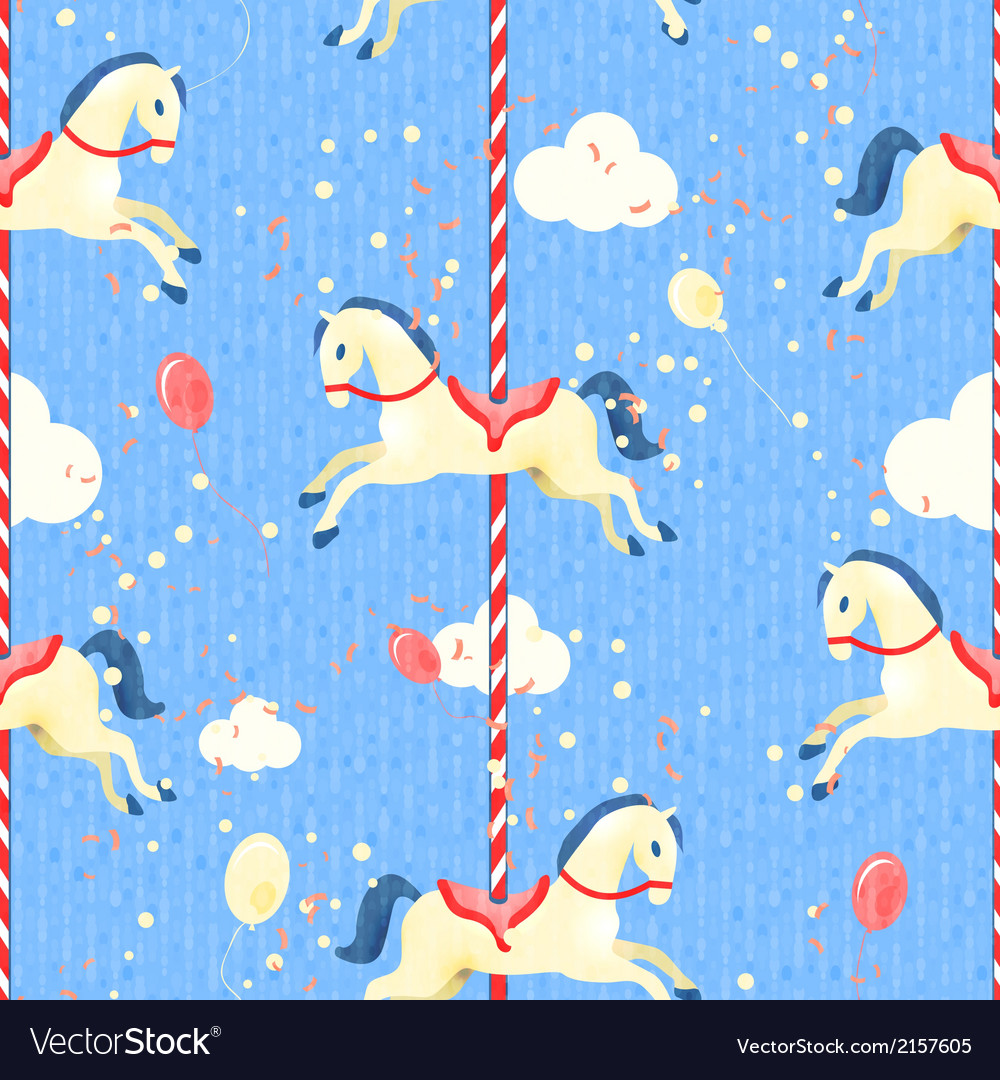 Amusement park seamless pattern vector | Price: 1 Credit (USD $1)