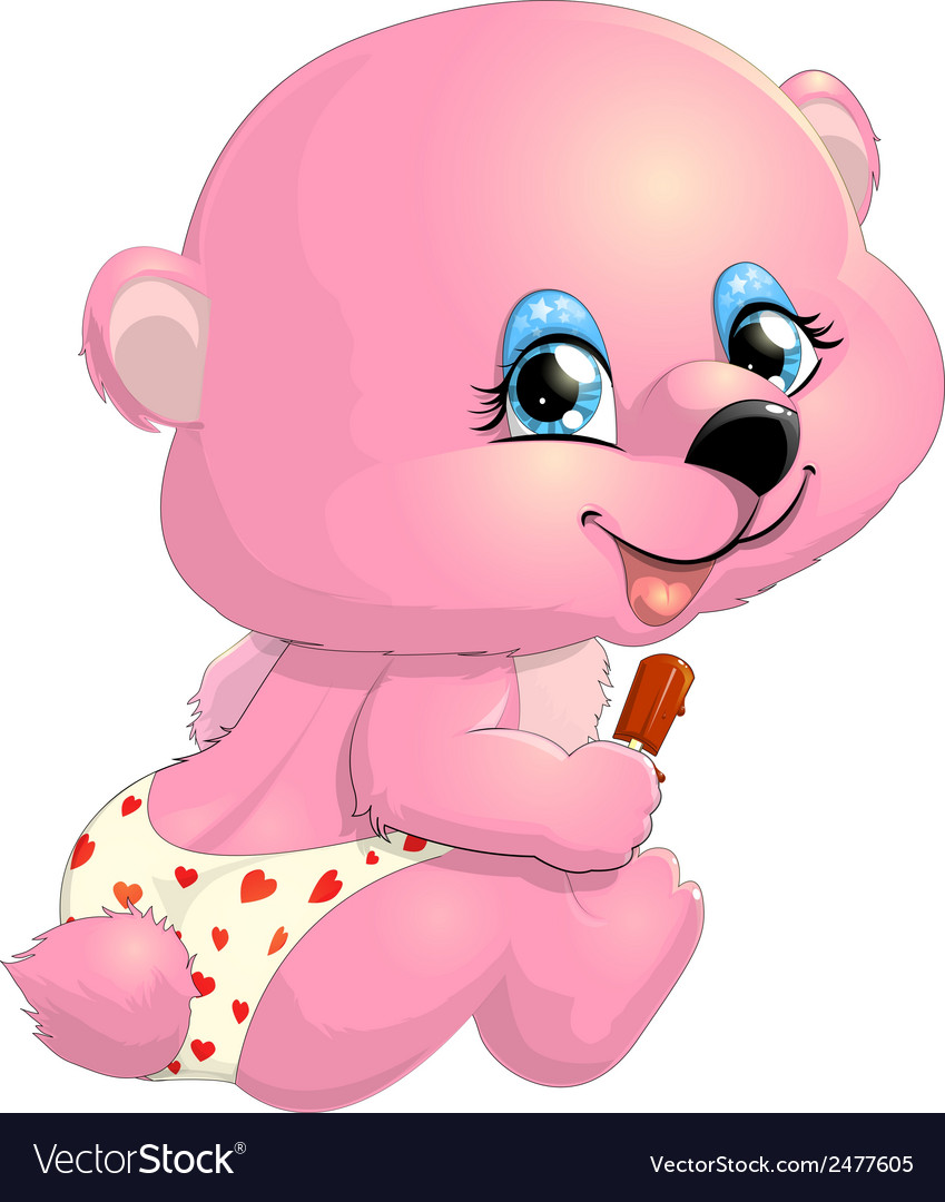 Bear girl pink vector | Price: 1 Credit (USD $1)