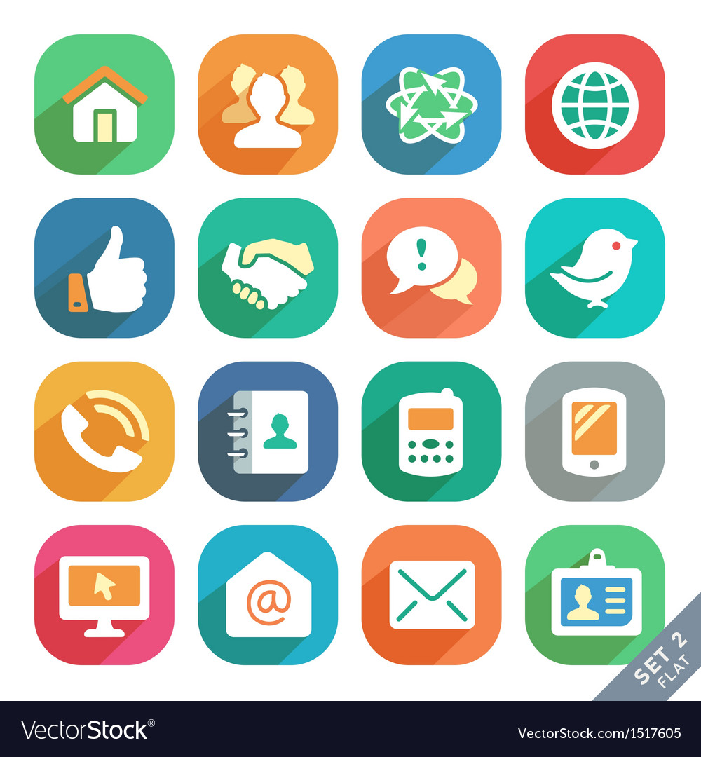 Communication and media icons vector | Price: 3 Credit (USD $3)