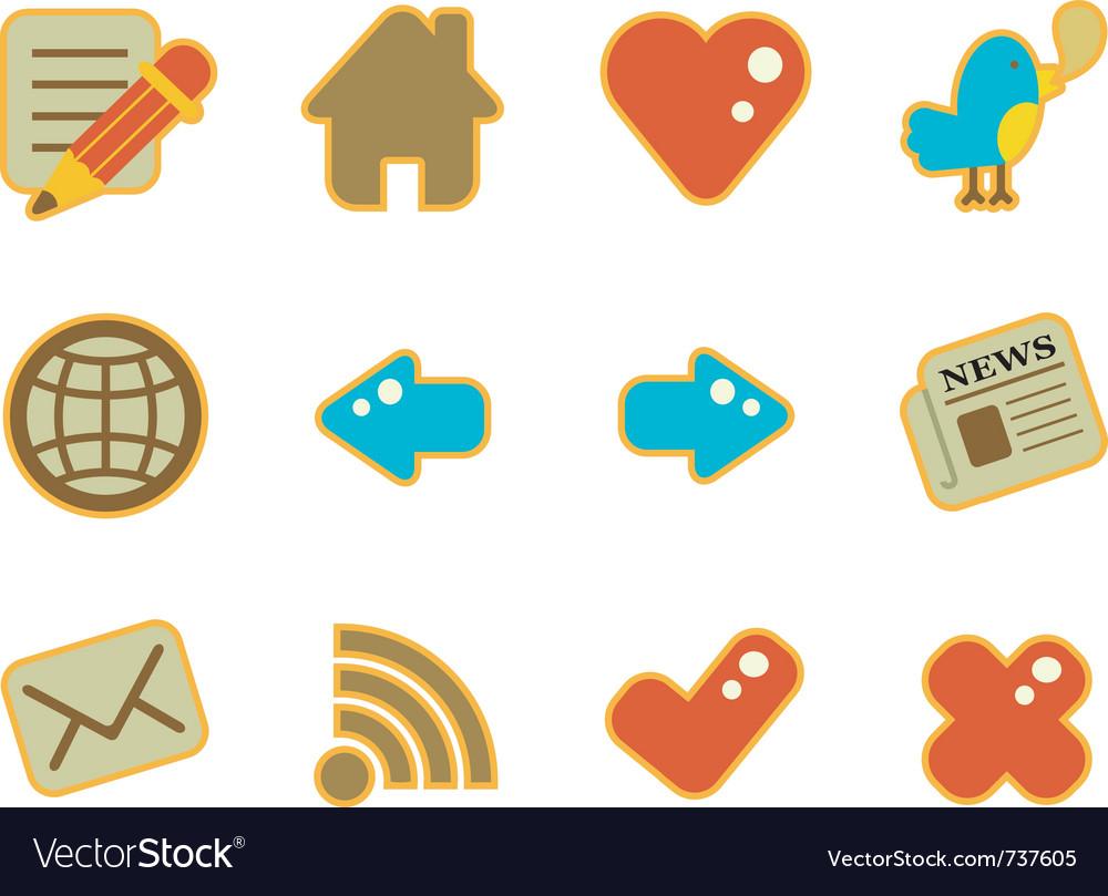 Cute icon website vector
