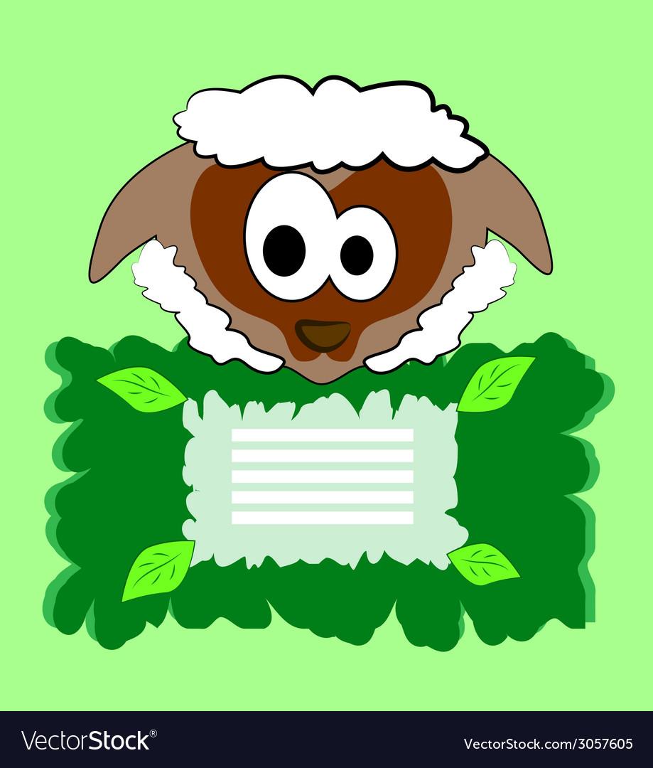 Cute sheep vector | Price: 1 Credit (USD $1)