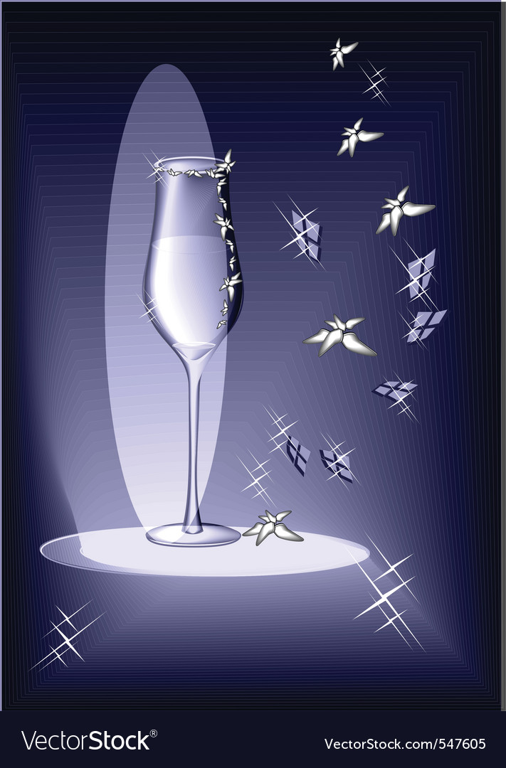 Evening glass vector | Price: 1 Credit (USD $1)