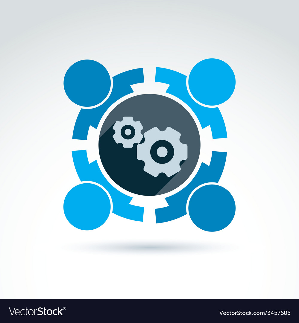 Gears - enterprise system theme organiza vector | Price: 1 Credit (USD $1)