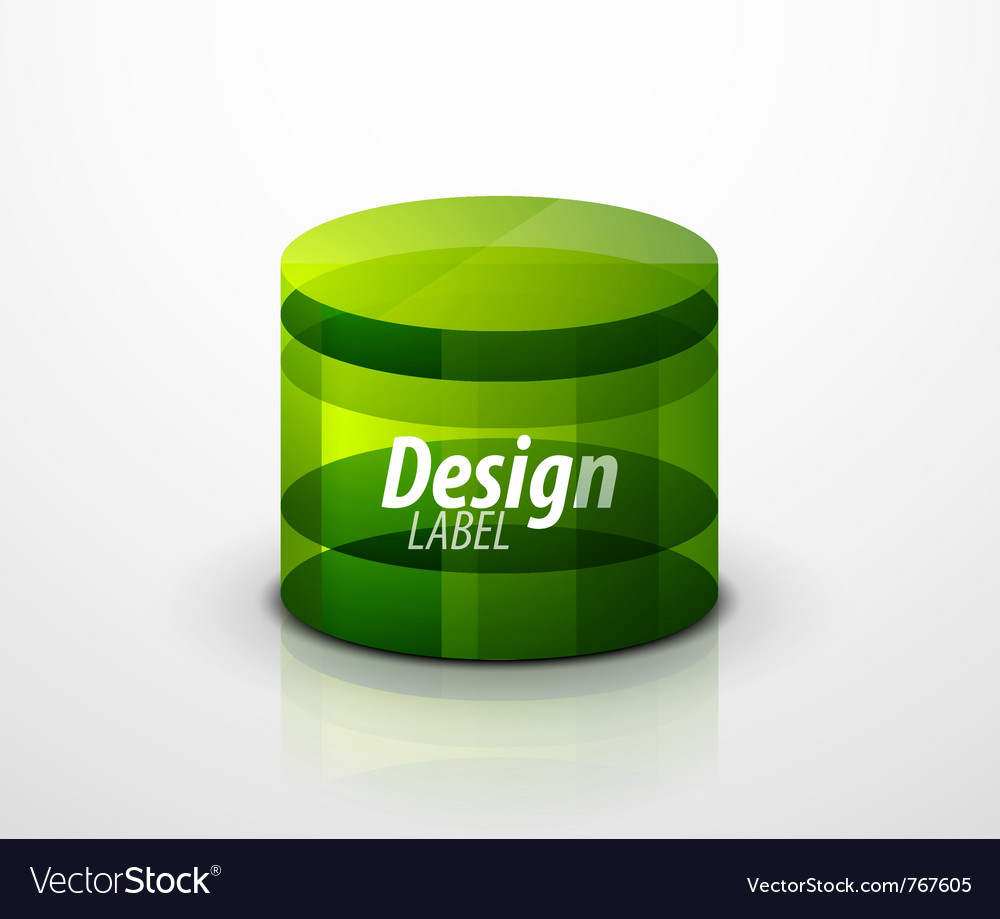 Glass cylinder vector | Price: 1 Credit (USD $1)