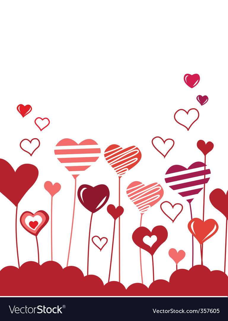 Growing hearts vector | Price: 1 Credit (USD $1)