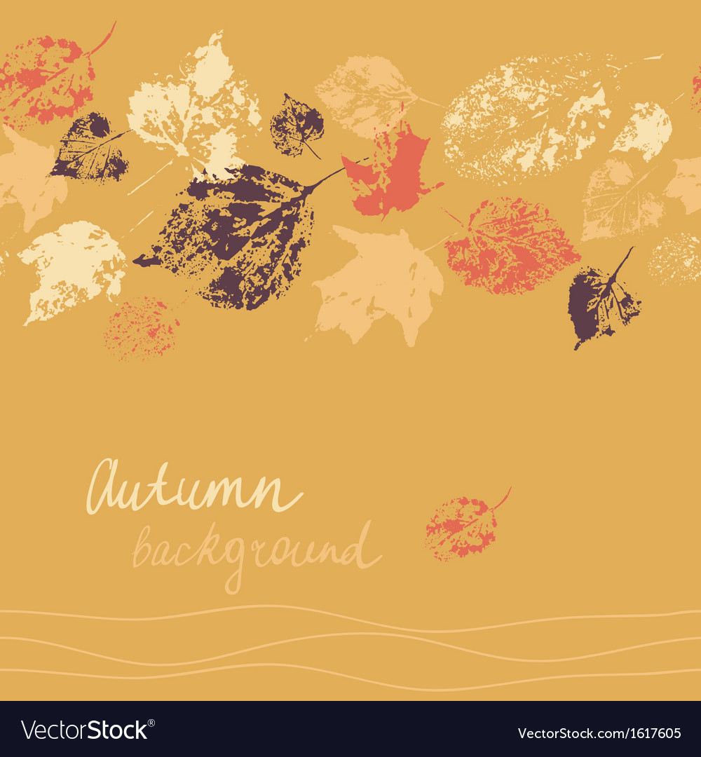 Horizontal seamless autumn background vector | Price: 1 Credit (USD $1)