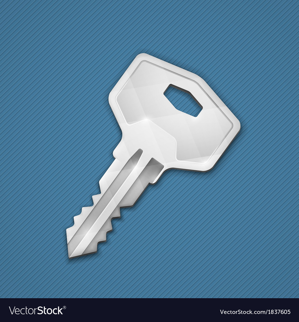 Steel key vector | Price: 1 Credit (USD $1)