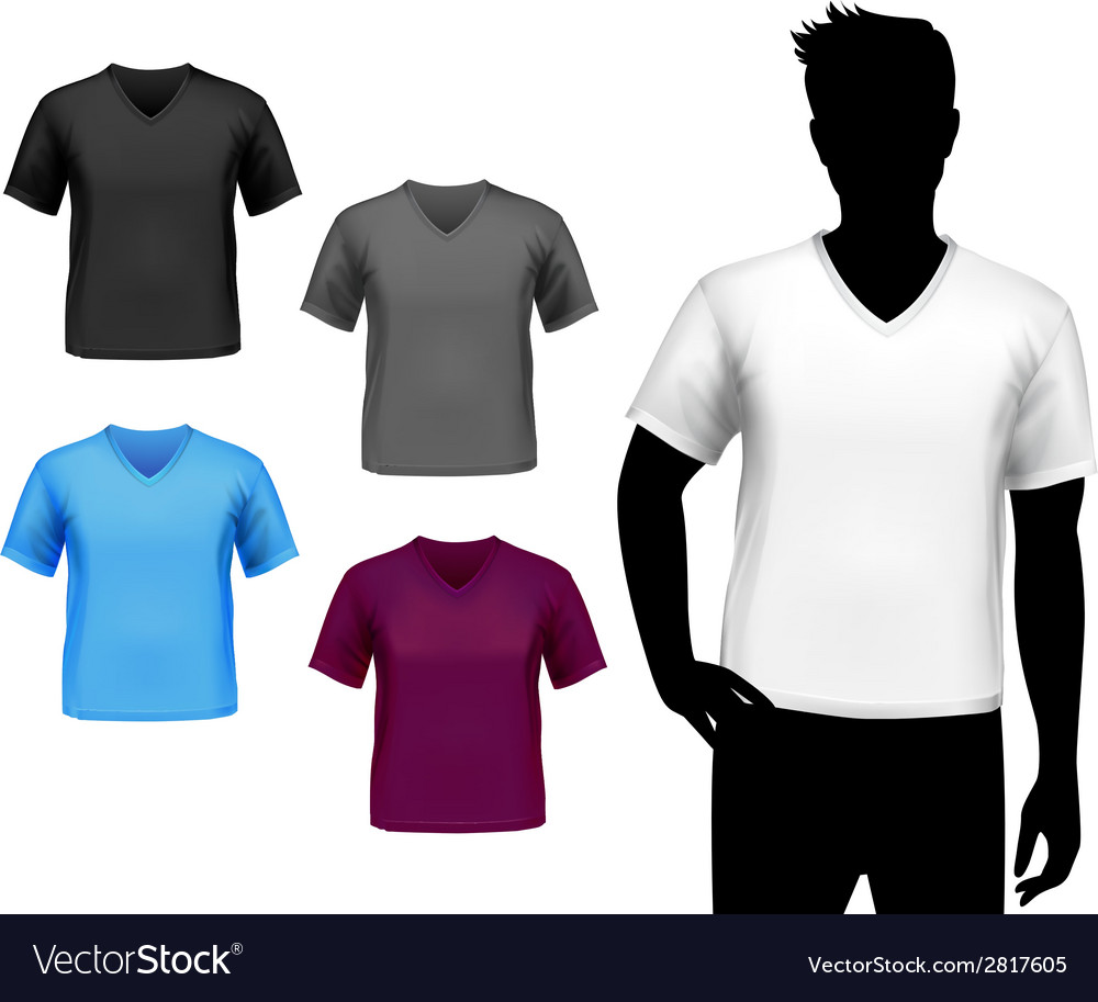 T-shirts male set vector | Price: 1 Credit (USD $1)