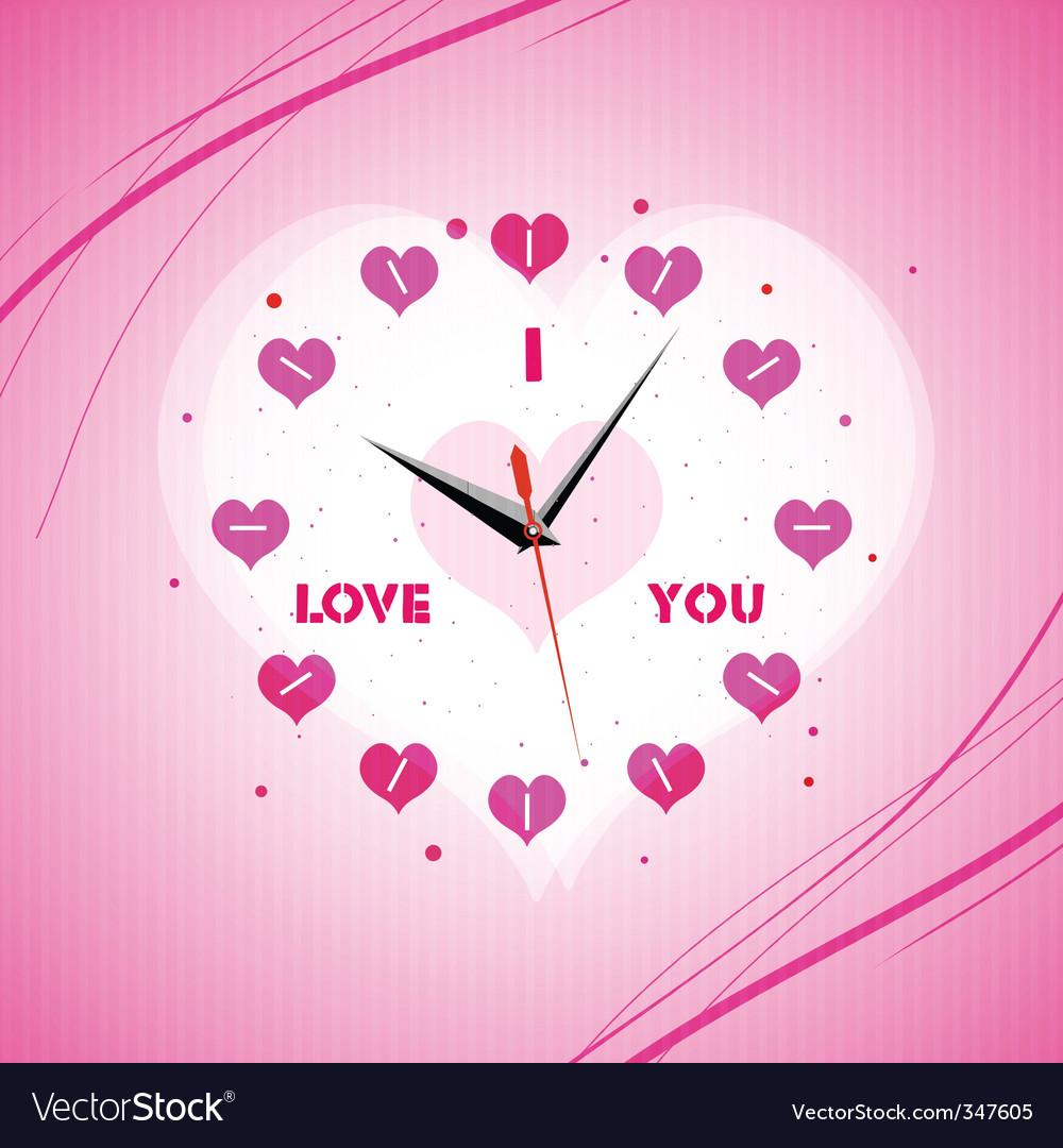 Valentine clock vector | Price: 1 Credit (USD $1)