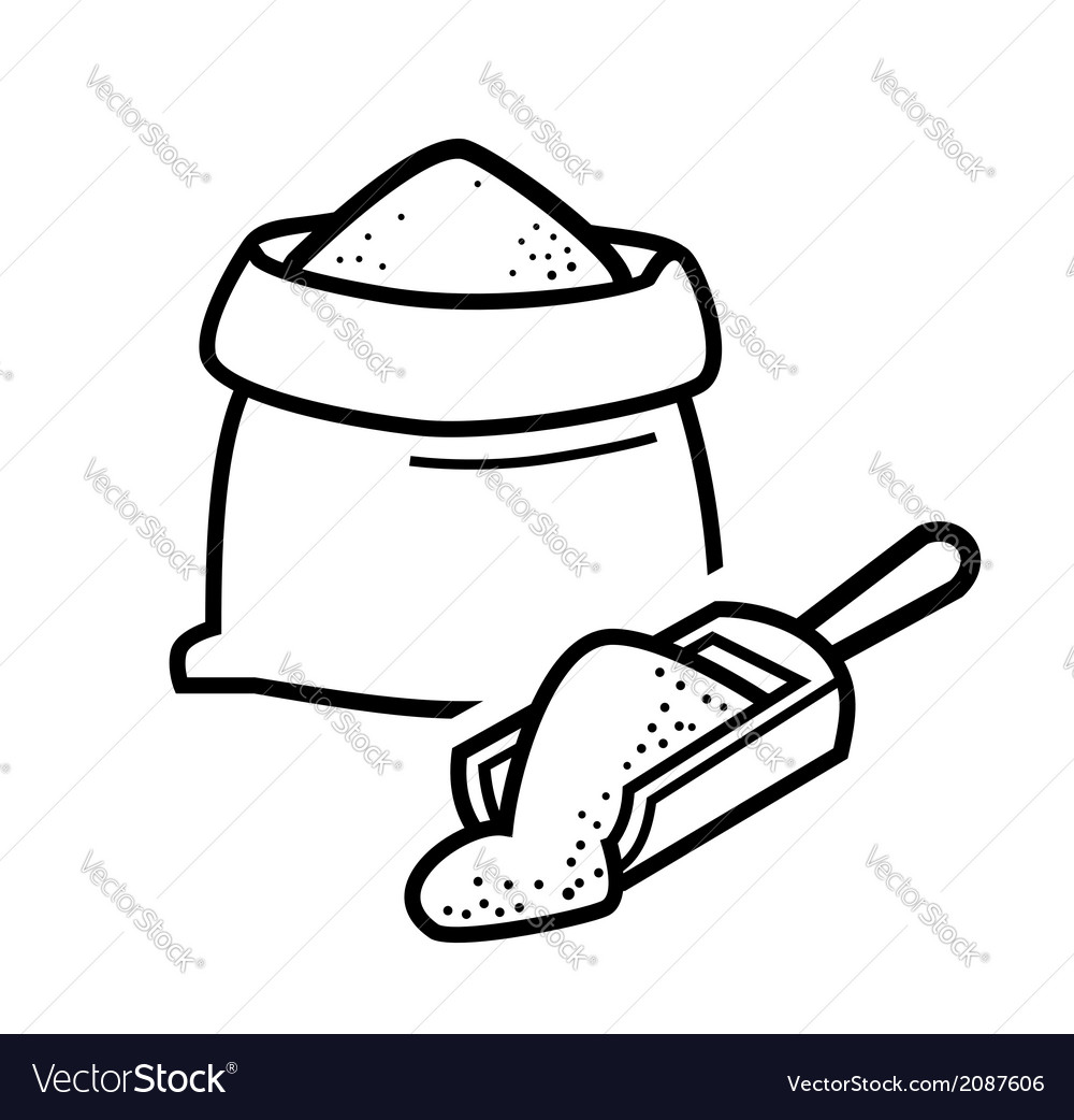 Bag flour vector | Price: 1 Credit (USD $1)