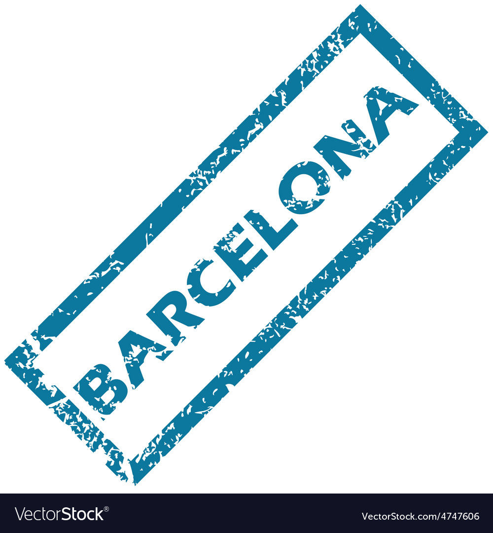 Barcelona rubber stamp vector | Price: 1 Credit (USD $1)