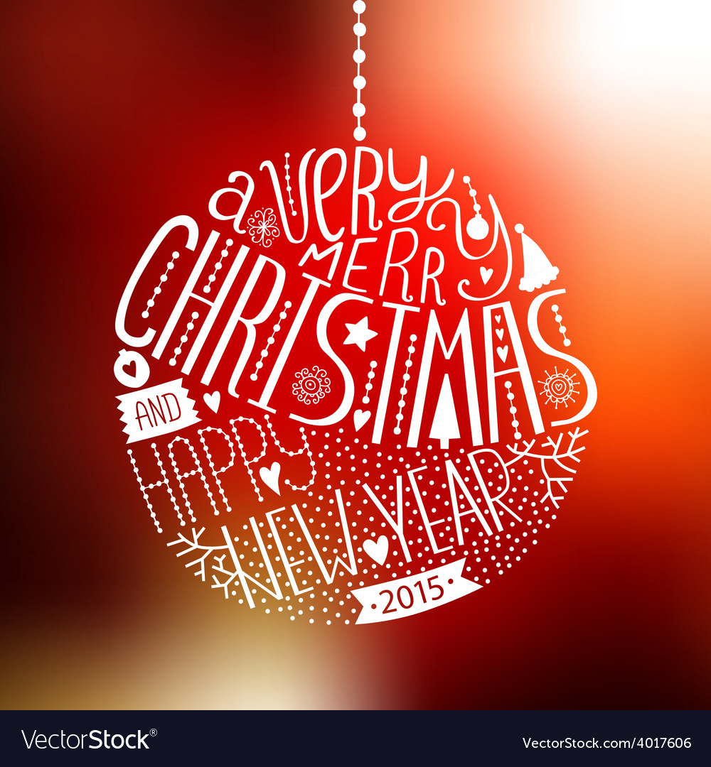 Christmas ball with new year lettering vector | Price: 1 Credit (USD $1)