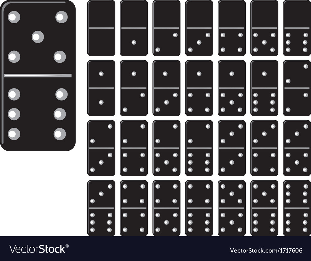 Collection of domino set with black spot vector | Price: 1 Credit (USD $1)