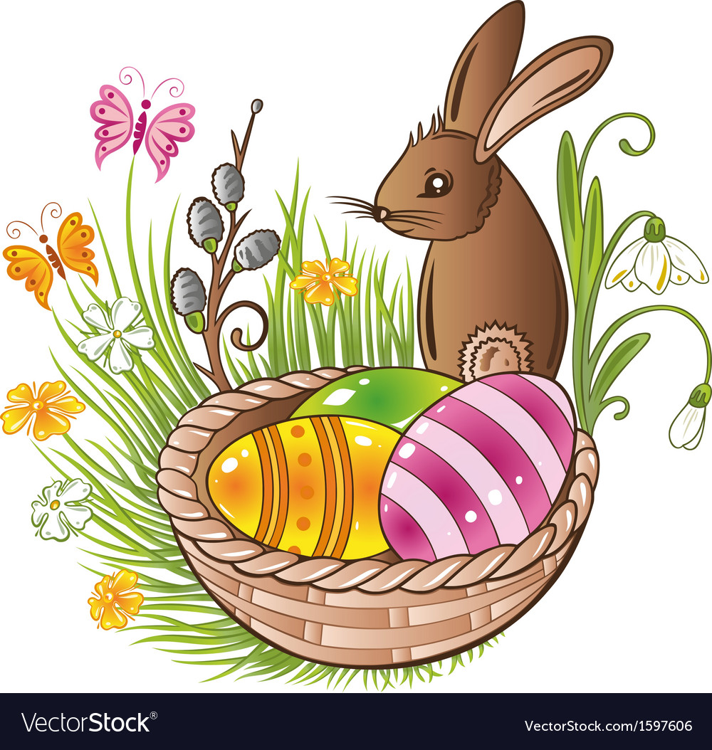 Easter eggs bunny spring vector | Price: 1 Credit (USD $1)