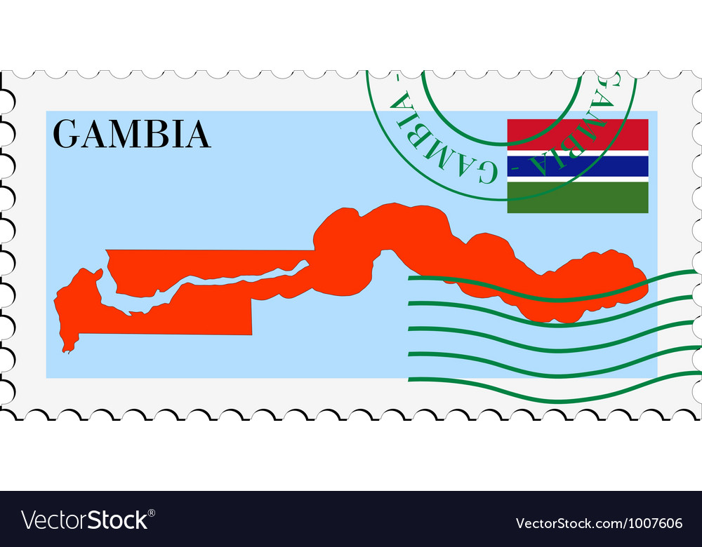 Mail to-from gambia vector | Price: 1 Credit (USD $1)
