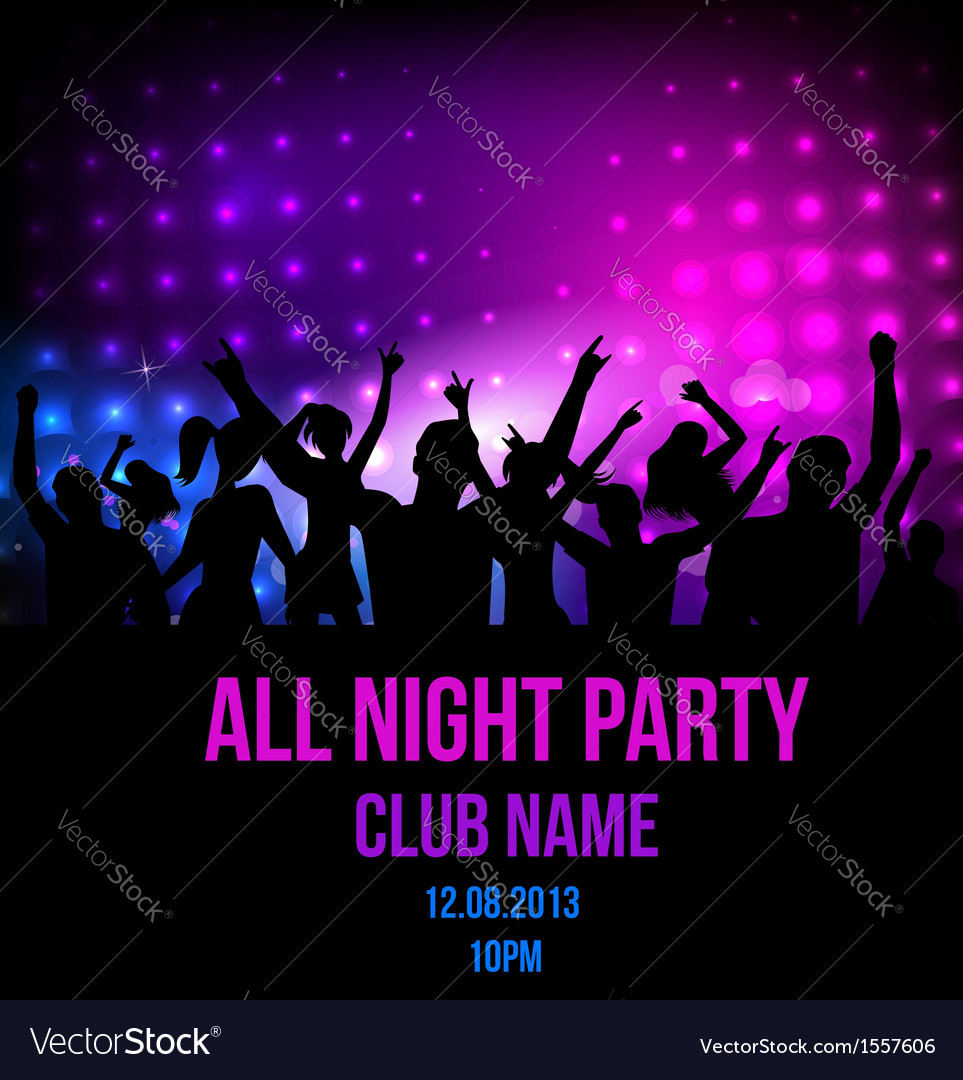 Party poster template vector | Price: 1 Credit (USD $1)