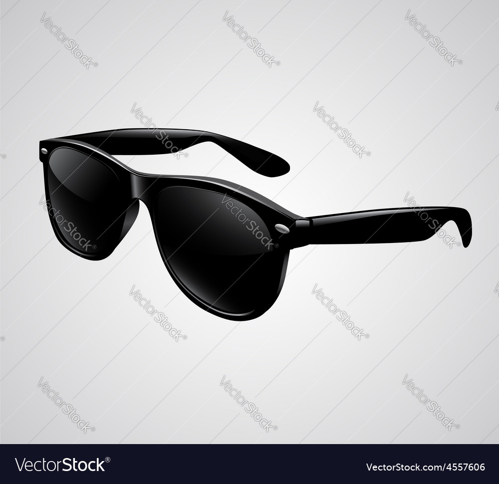 Sunglasses isolated vector | Price: 1 Credit (USD $1)