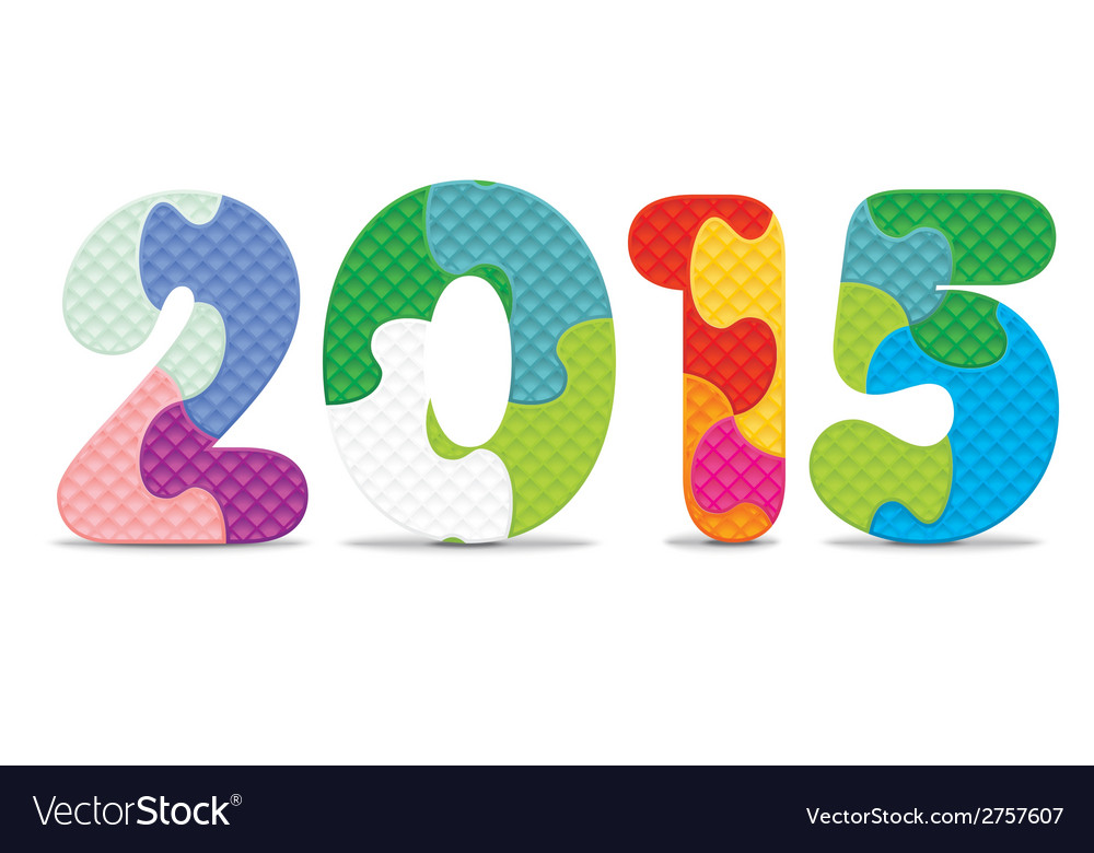 2015 made from alphabet puzzle vector | Price: 1 Credit (USD $1)