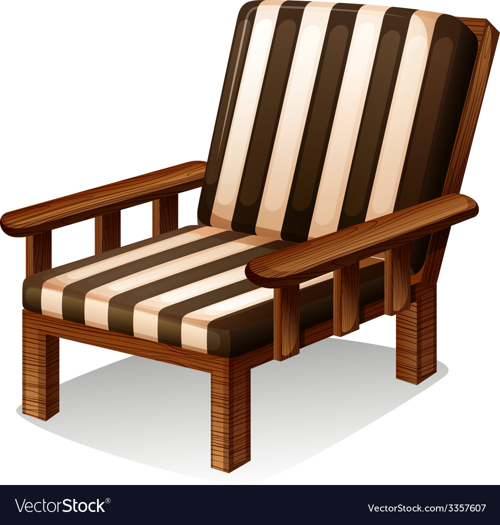 A wooden chair furniture vector | Price: 1 Credit (USD $1)